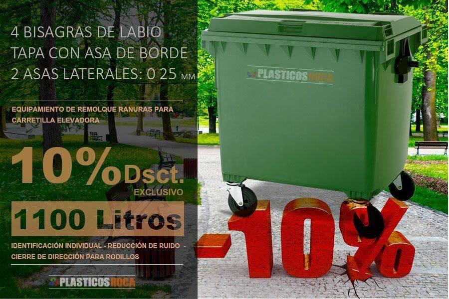 Muestra una oferta de contenedores de basura 1100 litros