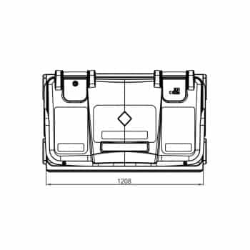 Contenedor de Residuos 770 Litros: Vista Planta