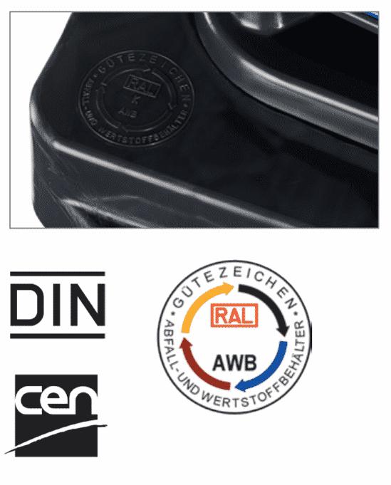 Contenedores 2 ruedas: certificacion impresa
