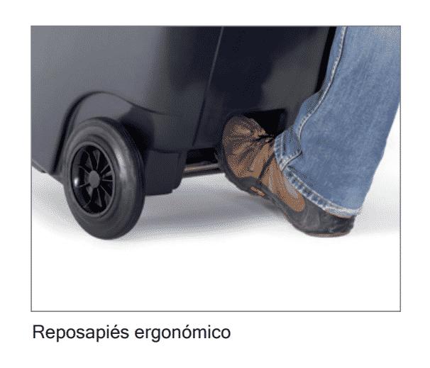 Contenedor 2 ruedas: Reposapies