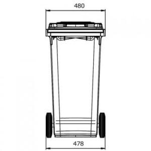 Contenedor 120: vista horizontal